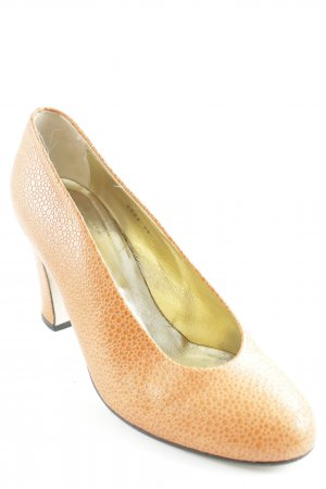 Walter Steiger Plateau-Pumps hellorange Animal-Look
