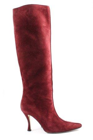 Walter Steiger Bottes à tige large rouge élégant