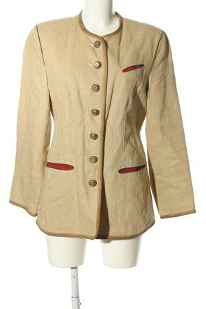 Walter Tradycyjna kurtka w kolorze białej wełny-czerwony Styl klasyczny