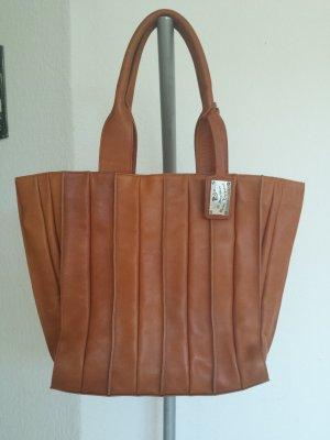Walter Valentino Vintage Shopper Tasche Xl Schultertasche Echt Leder
