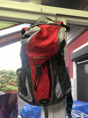 KilimAnjarO Trekking Backpack red-grey