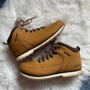 Low boot orange doré-brun