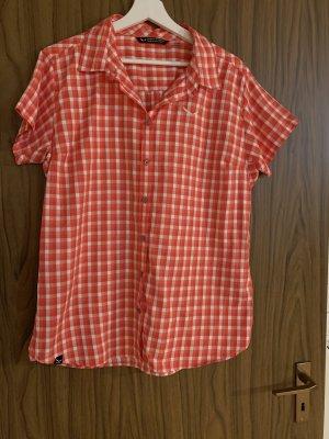 Salewa Short Sleeve Shirt white-red