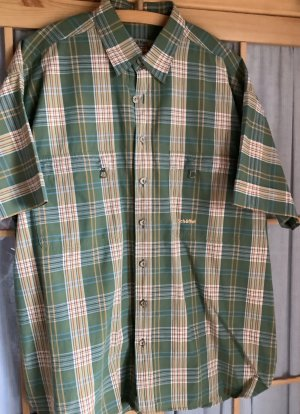 Schöffel Checked Blouse forest green-natural white cotton