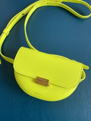 Wandler Torebka mini żółty neonowy Skóra