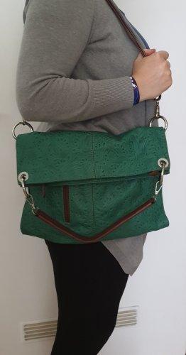 Wandlungsfähige Lederhandtasche