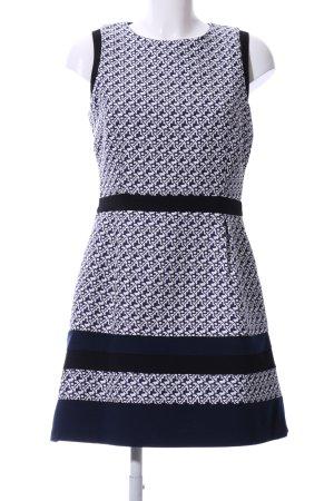 Warehouse A-Linien Kleid weiß-blau Allover-Druck Elegant
