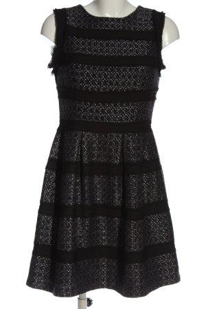 Warehouse A-Linien Kleid schwarz Allover-Druck Elegant