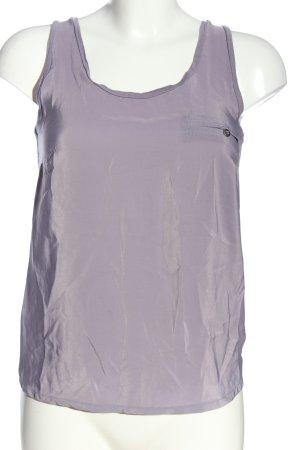Warehouse ärmellose Bluse lila Casual-Look