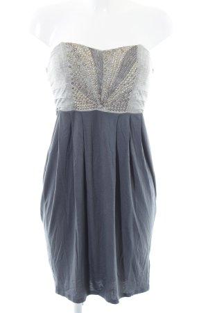 Warehouse Robe bandeau gris clair-bleu moucheté style festif