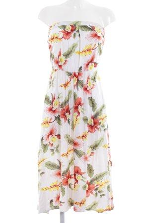 Warehouse Robe bandeau motif de fleur style décontracté