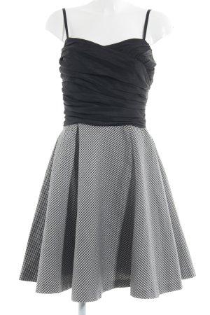 Warehouse Robe bandeau noir-blanc motif à carreaux style d'affaires