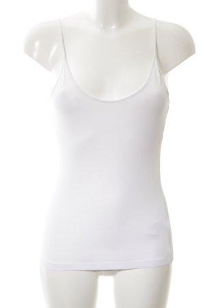 Warehouse Basic topje wit simpele stijl
