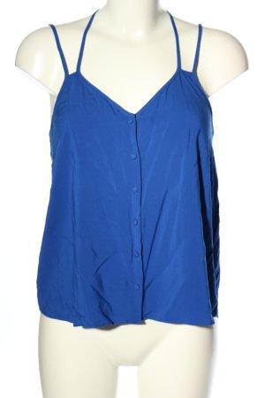 Warehouse Basic Top blau Casual-Look