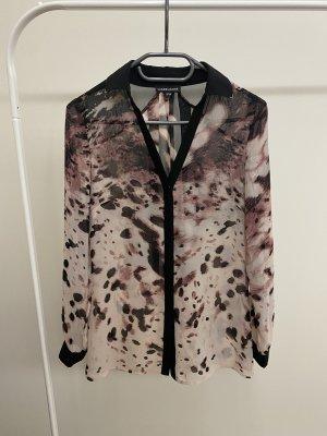 Warehouse Bluse Hemd in 34 / Xs schwarz Beige violett Silber