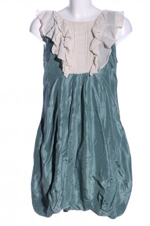 Warehouse Blusenkleid blau-wollweiß Elegant