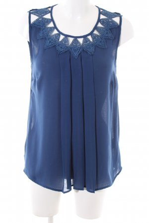 Warehouse Blusentop blau Casual-Look