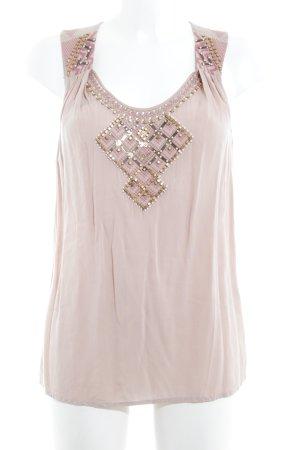 Warehouse Blouse topje stoffig roze-roze Patroon-mengeling simpele stijl