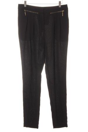 Warehouse Bundfaltenhose schwarz Elegant