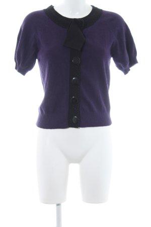 Warehouse Cardigan dunkelviolett-schwarz schlichter Stil