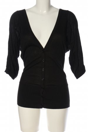 Warehouse Cardigan schwarz Casual-Look