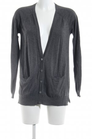 Warehouse Cardigan grau-dunkelgrau meliert Casual-Look