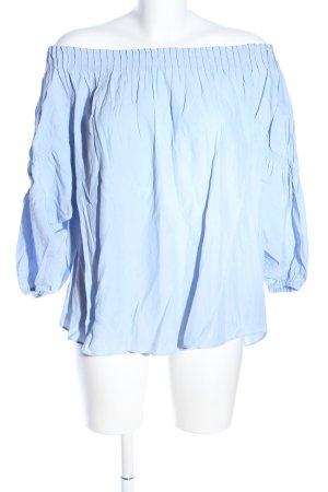 Warehouse Carmen-Bluse blau Casual-Look