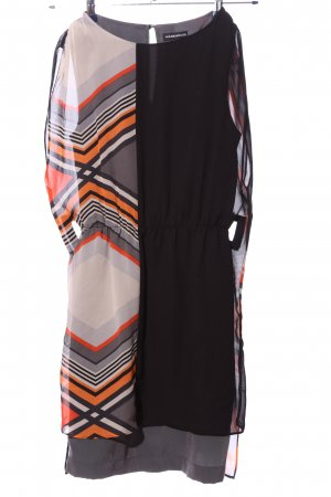 Warehouse Chiffon Dress striped pattern casual look