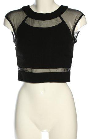 Warehouse Cropped Shirt schwarz Casual-Look