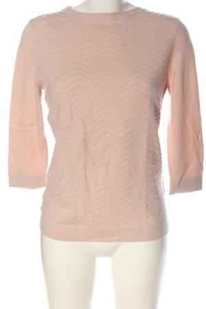 Warehouse Pull en maille fine rose chair motif rayé style décontracté