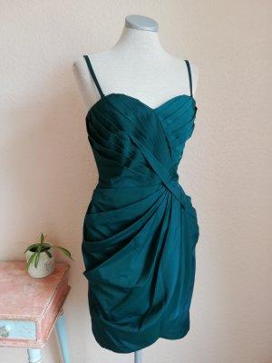 Warehouse Gr. UK 10 D 36 S grün Smaragd Cocktailkleid Kleid Trägerkleid neu