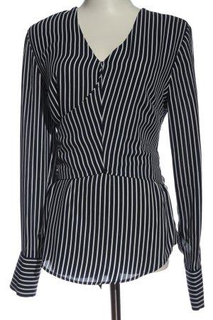Warehouse Hemd-Bluse schwarz-weiß Streifenmuster Elegant