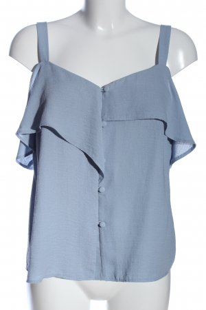 Warehouse Hemd-Bluse blau Casual-Look