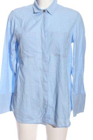 Warehouse Hemd-Bluse blau Business-Look
