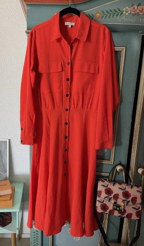 Warehouse Vestido tipo blusón rojo
