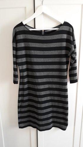 Warehouse Kleid gestreift grau schwarz