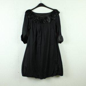 Warehouse Robe mi-longue noir coton