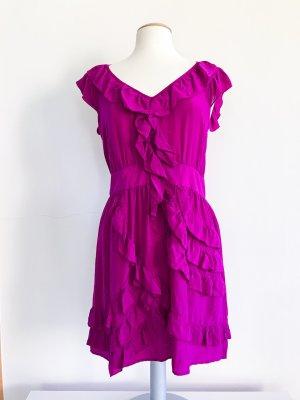 Warehouse Kleid, Sommerkleid, Seidenkleid, pink, magenta, Gr. 42 / XL