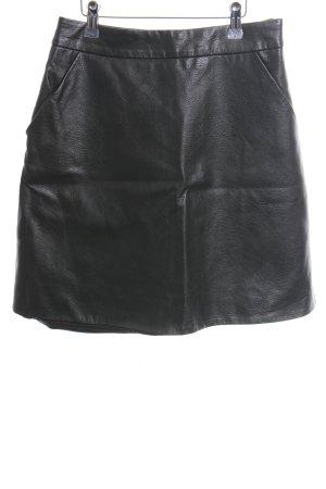 Warehouse Kunstlederrock schwarz Casual-Look