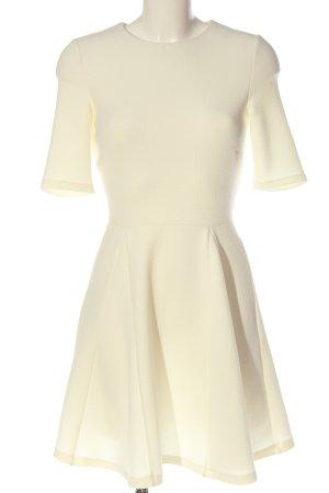 Warehouse Vestido de manga corta blanco puro elegante