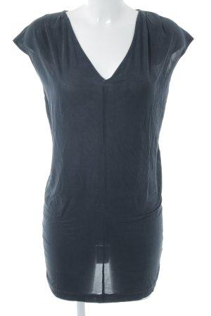 Warehouse Kurzarmkleid schwarz-taupe Casual-Look