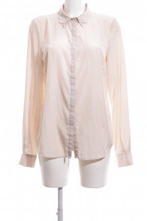 Warehouse Langarm-Bluse creme Business-Look