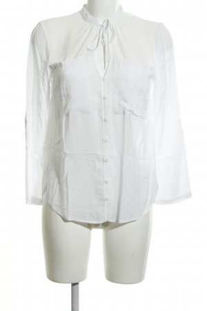 Warehouse Langarm-Bluse weiß Elegant