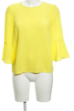 Warehouse Langarm-Bluse gelb schlichter Stil