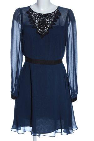 Warehouse Robe à manches longues bleu élégant