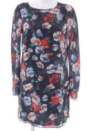 Warehouse Langarmkleid florales Muster schlichter Stil