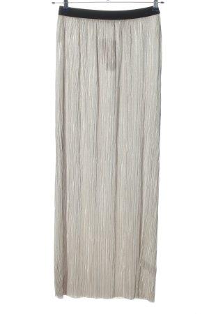 Warehouse Falda larga gris claro-negro look casual