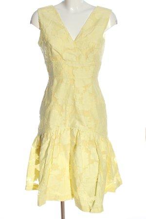 Warehouse Abito midi giallo pallido stile casual