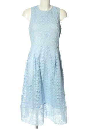Warehouse Vestido a media pierna azul elegante
