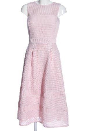 Warehouse Abito midi rosa elegante